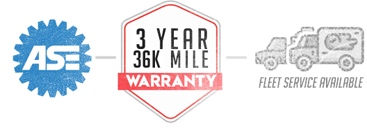 Ase logo, Warranty logo, Fleet Service | The Livonia Garage